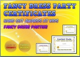 fancy dress awards certificates